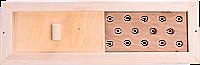 Вентиляционная задвижка для бани Sauna wood из липы с решеткой