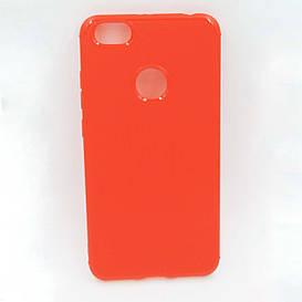 Чехол накладка для Xiaomi Redmi Note 5A PRIME силиконовый, Фактура металла, красный