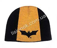 Вязанная шапка Бэтман 44-46м