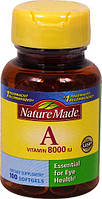 Nature Made Vitamin A 8000 IU  100 ЖК