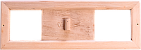 Вентиляционная задвижка для бани Sauna wood из липы без решетки