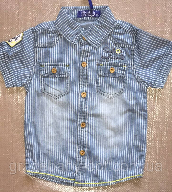 f11b5e8460a Джинсовая рубашка на мальчика оптом