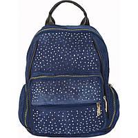 Рюкзак №5212 джинс Синий с коричневым