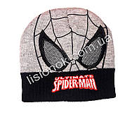 Вязанная шапка Человек-паук 46-48 см
