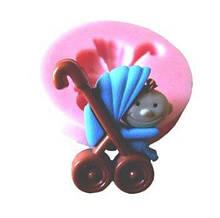 """Молд силіконовий """"Дитина у візку"""" - діаметр молдовського 3,5 см"""
