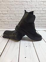 Ботинки осенне-весенние женские из натуральной кожи черные молния спереди Код 1431, фото 3