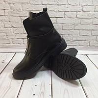 1510UAH. 1510 грн. В наличии. Ботинки осенне-весенние женские из натуральной  кожи черные молния спереди Код 1431 d2ff34cd1f7