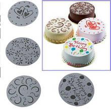 Набор трафаретов для торта, пирога - в наборе 4шт., диаметр 20см, пищевой пластик