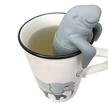 """Ситечко для чая """"Ламантин"""", серый - размер 10,5*5,7см, силикон"""
