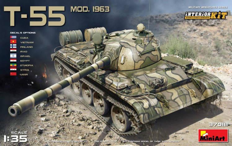 Т-55 образца 1963 г. С ИНТЕРЬЕРОМ. 1/35 MINIART 37018, фото 2