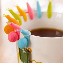 Набор улиток для пакетиков чая - в наборе 5шт. может попадаться одинаковый цвет, размер одной улитки 4см