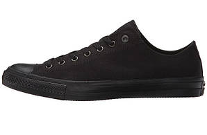 Женские кеды Converse All Star черные низкие (реплика)
