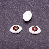 """Глазки """"живые"""", коричневые, 12*8 мм, 3 пары"""