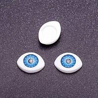 """Глазки """"живые"""", синие, 16*12 мм, 3 пары"""