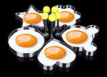 Формы для яиц и жарки блинчиков - в наборе 5шт. разных форм, металл