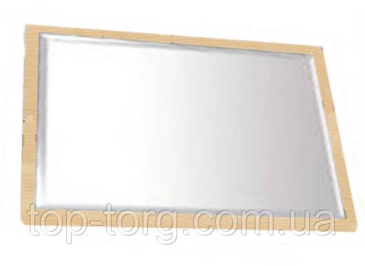 Зеркало настенное 0966 с фацетом,с фаской, основание светлое