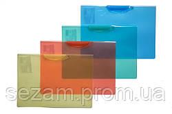 Папка з бок. затиском, А4, PP, 450 мкн, кол. в ас., 4-256, 4Office