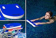 Доска для плавания с ручками  повышеной плавучести 37*28*3 см