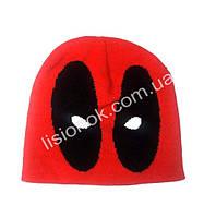 Вязанная шапка Дэдпул 48-50м