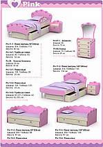 Кровать под матрас 1200х2000 Pn-11-2 Pink, фото 2