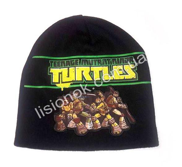 Вязанная шапка Ниндзя черепашки 50-54 см