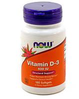 NOW Foods Vitamin D-3 400 IU   180 ЖК