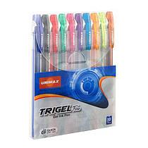 Набор гелевых ручек 10 цветов Trigel-3 UX-132-20
