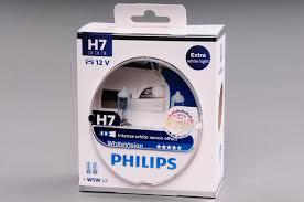 Комплект автоламп PHILIPS 12972WHVSM H7 +W5Wx2 12V PX26d WhiteVision +60%(4300K), 2шт.H7+2шт.,Польша