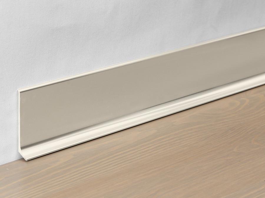 Металлический плинтус Profilpas Metal Line 90/8 анодироованный алюминий, титан полированный 10*80*2000 мм.