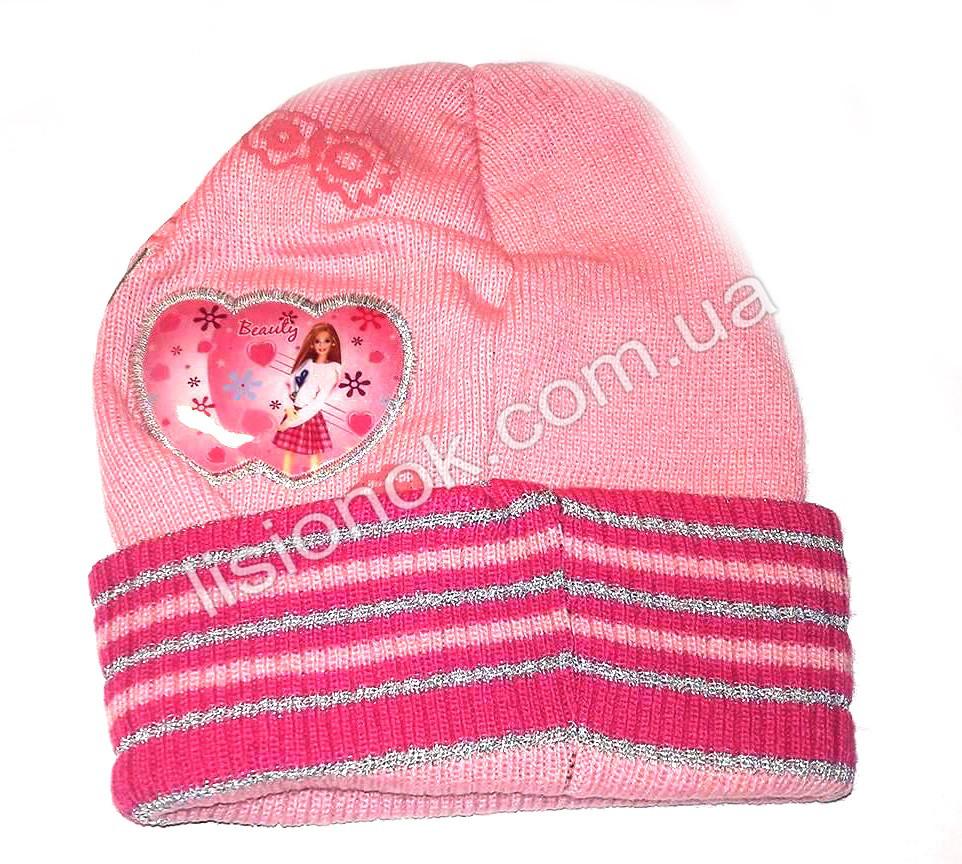 Рожева шапка Beauty Барбі 48-52см
