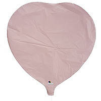 Гелиевый шар фольга бежевое сердце 45см