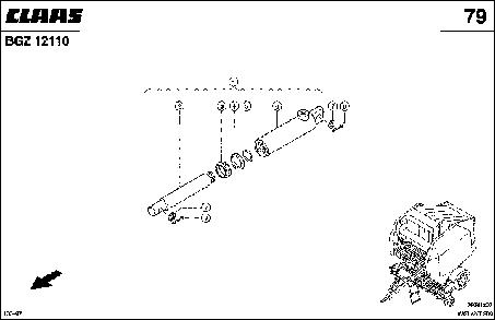 ГИДРОЦИЛИНДР, УПРАВЛЕНИЕ НОЖАМИ - CLAAS VARIANT 280 / 280RC