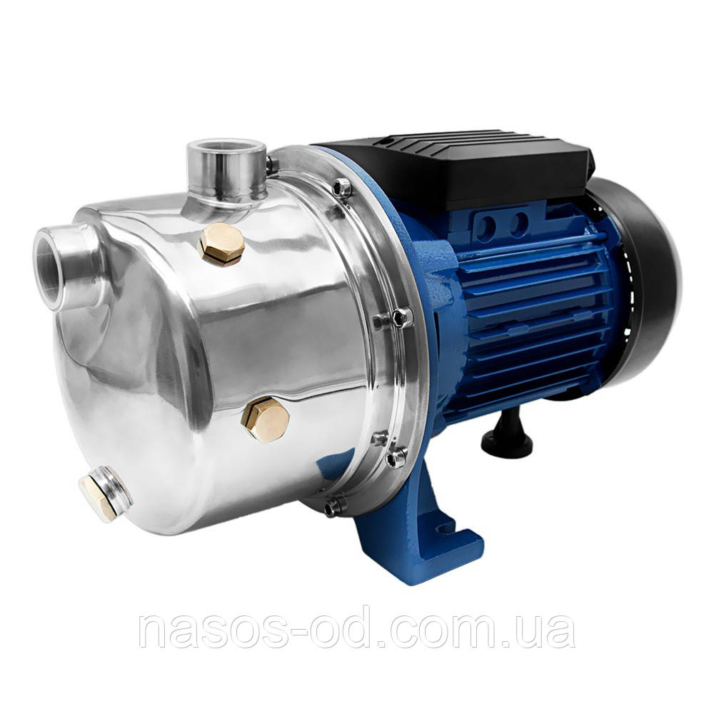 Насос центробежный поверхностный самовсасывающий Wetron JETS80 для воды 0.75кВт Hmax45м Qmax50л/мин (775052)