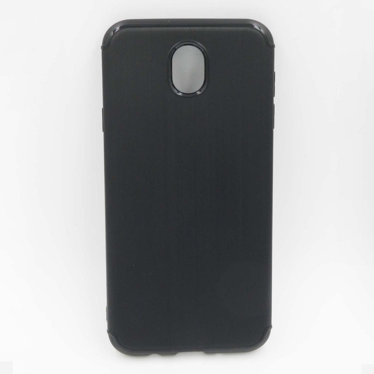 Чохол накладка для Samsung Galaxy J5 2017 J530 силіконовий, Фактура металу, чорний