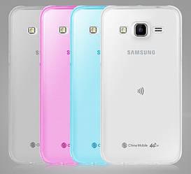 Прозрачный Чехол Samsung Galaxy J5 J500 (ультратонкий силиконовый) (Самсунг Джей 5 Джи 500)