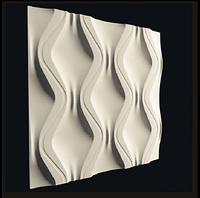 """Гіпсова 3D панелі """"Змійка"""" 500х500 мм New Walls"""