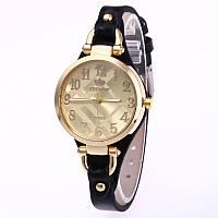 Часы женские Rinnady тонкий ремешок Черные 088-2