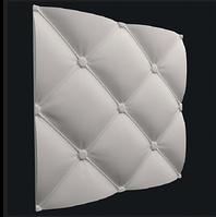 """Гіпсові панелі 3D """"Шкіра"""" 500х500 мм New Walls"""