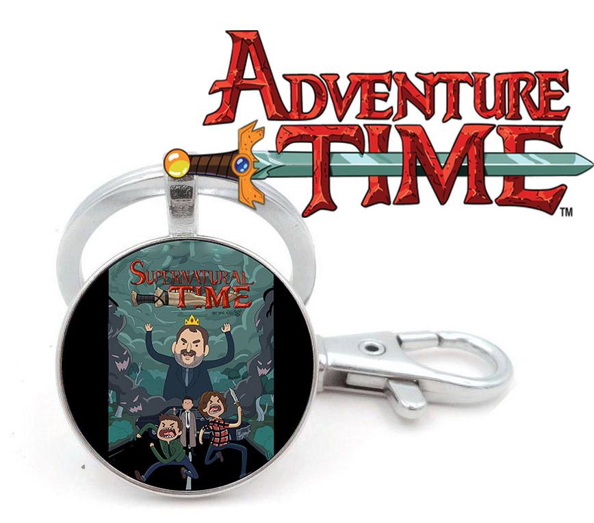 Брелок Adventure time Время приключений пародия на Сверхъестественное Supernatural