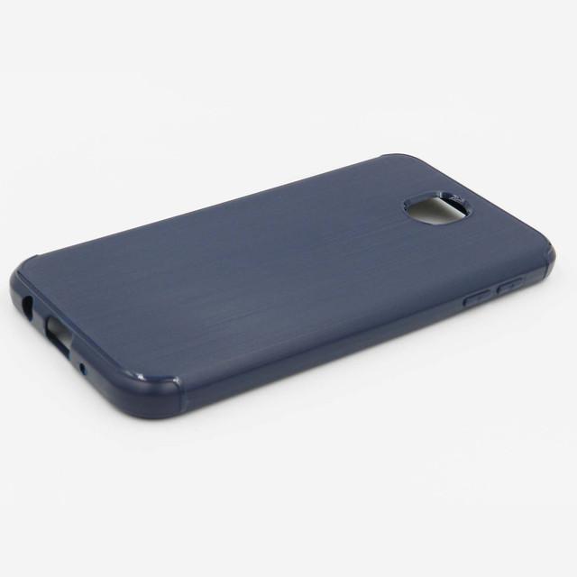 чехол на Samsung Galaxy J5 2017 J530 силиконовый синий металл