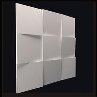 """Гіпсові панелі 3D """"Квадрати"""" 500х500 мм New Walls"""