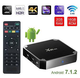 Смарт ТВ приставка X96 mini 2/16 Гб Android 7.1.2