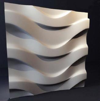 """Гипсовые 3D панели """"Волна"""" 500х500 мм. New Walls"""