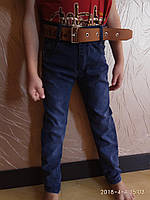 Джинсы стильные коттон от 1 до 4 лет синие Тати