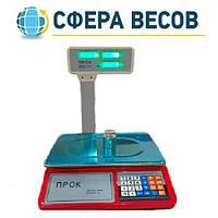 Весы торговые со стойкой ПРОК ВТ-779-GL (30 кг)
