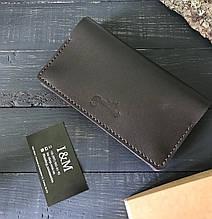 Большой кошелек БрадВей с карманом на змейке 283010 - шоколадный