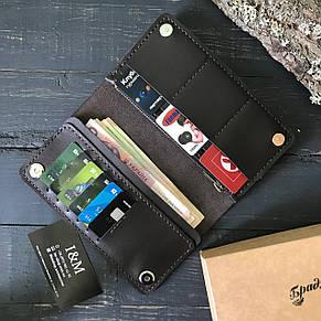 Большой кошелек БрадВей с карманом на змейке 283010 - шоколадный, фото 2