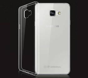 Прозрачный Чехол Samsung Galaxy A7 2016 A710 (ультратонкий силиконовый) (Самсунг А7 16 А710)