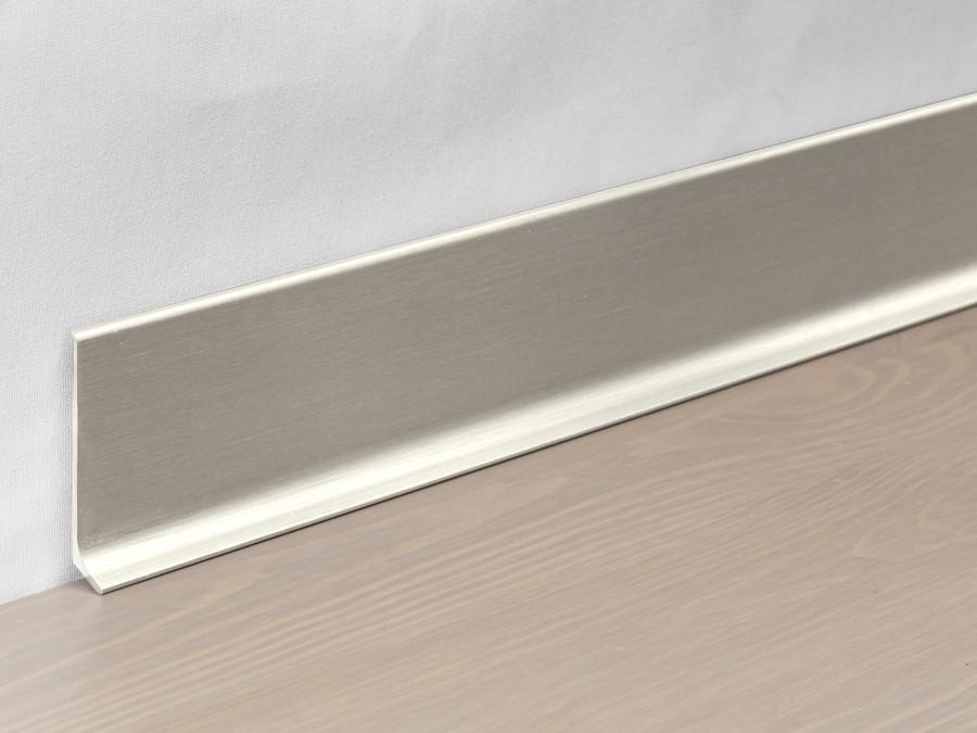 Металлический плинтус Profilpas Metal Line 90/6 анодироованный алюминий, титан сатин 10*60*2000 мм.