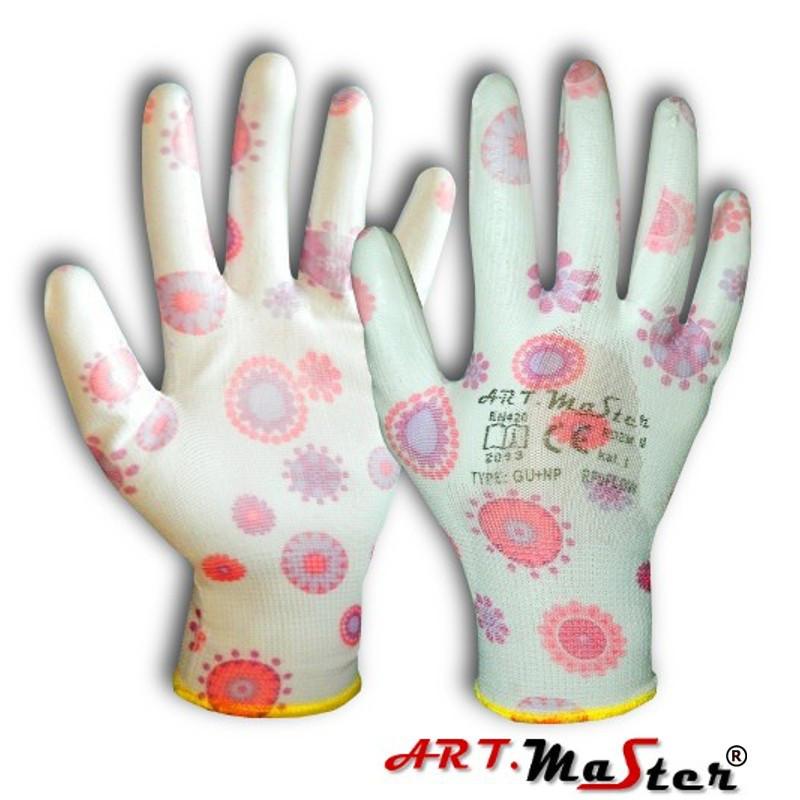 Перчатки защитные Rny Flow с латексным покрытием (красочные), размер М